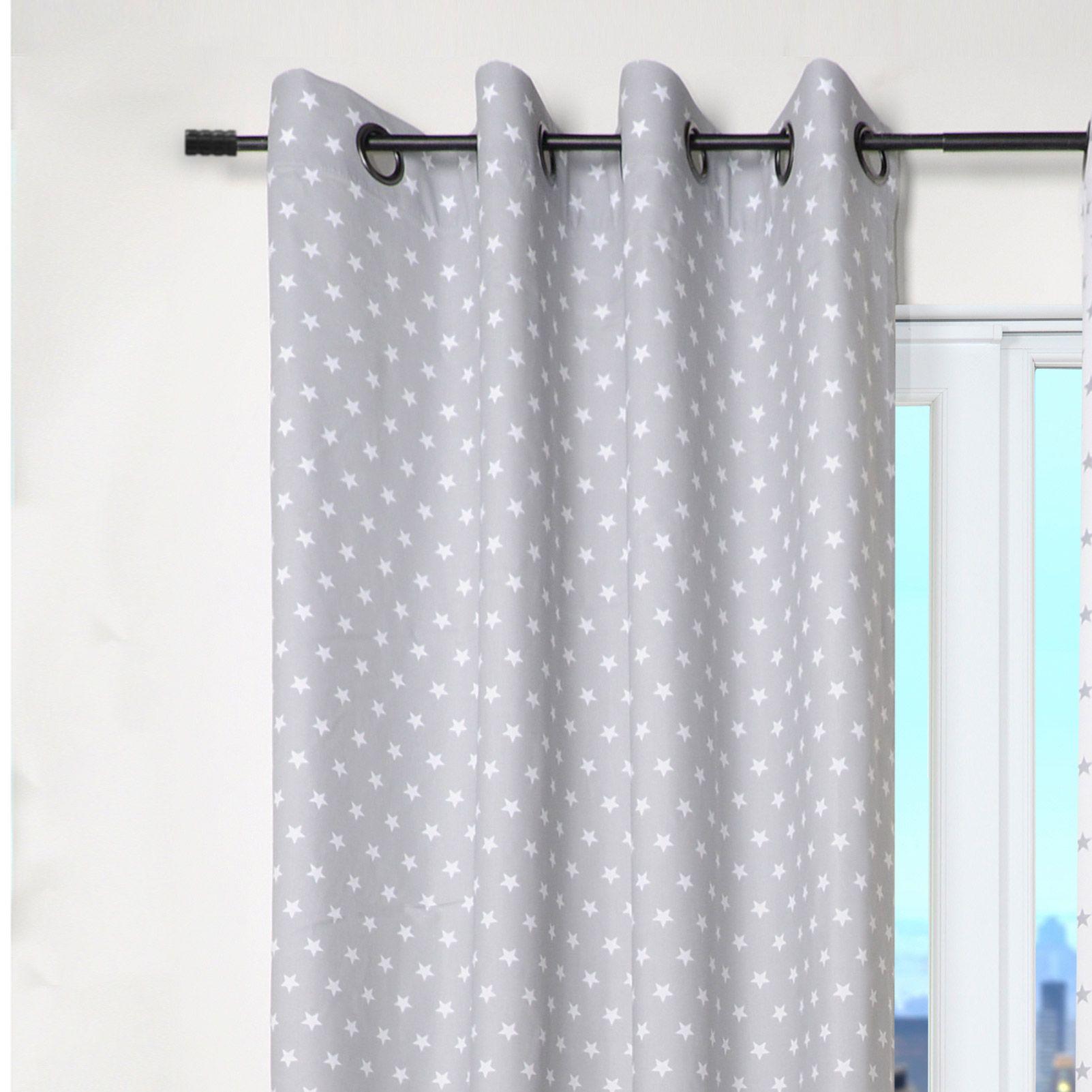 rideau tamisant oeillets 100 coton parement bicolore rayures 135x260cm angele pinterest. Black Bedroom Furniture Sets. Home Design Ideas