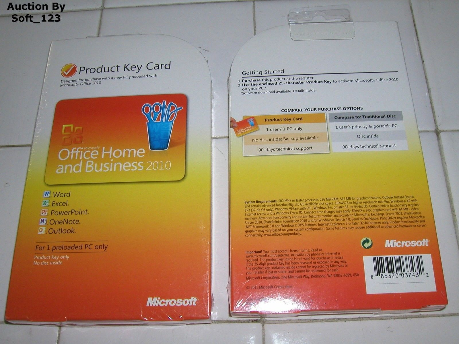 Ms microsoft #office 2010 home and #business #product key card (pkc ...
