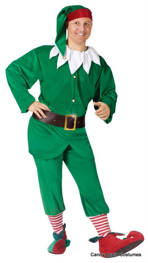 a46124b10 Adult Green Elf Costume Join Santa s workshop in this deluxe adult ...