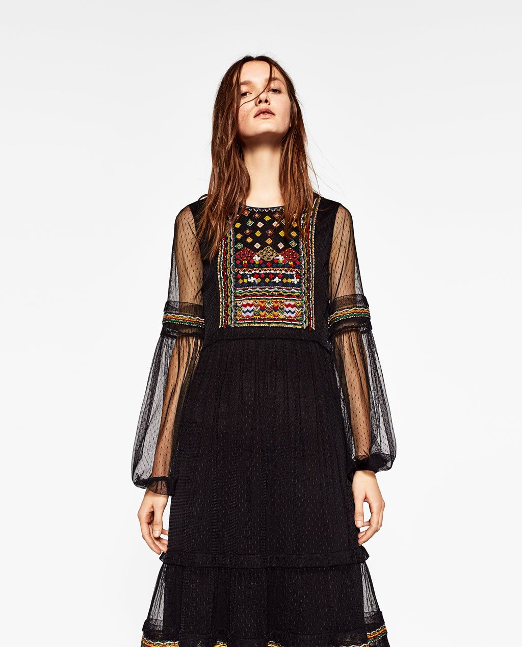 Image 2 Of Plumetis Embroidered Dress From Zara Zara 4ever