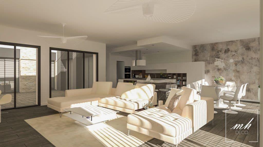 dans une maison orsay 91 une d coration contemporaine et chaleureuse par eva ivos notre. Black Bedroom Furniture Sets. Home Design Ideas