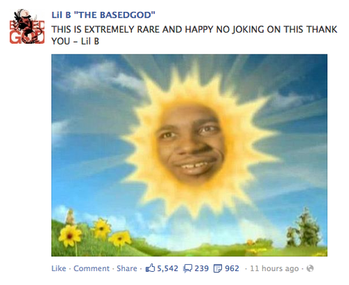 Lil B As The Sun Teletubbies Lord Disick Minion Photos