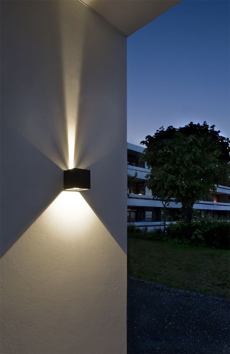 Led Outdoor Wall Lights Enhance The Architectural Features Of