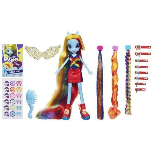 My Little Pony Equestria Girls Rainbow Dash Hairstyling Doll My Little Pony.