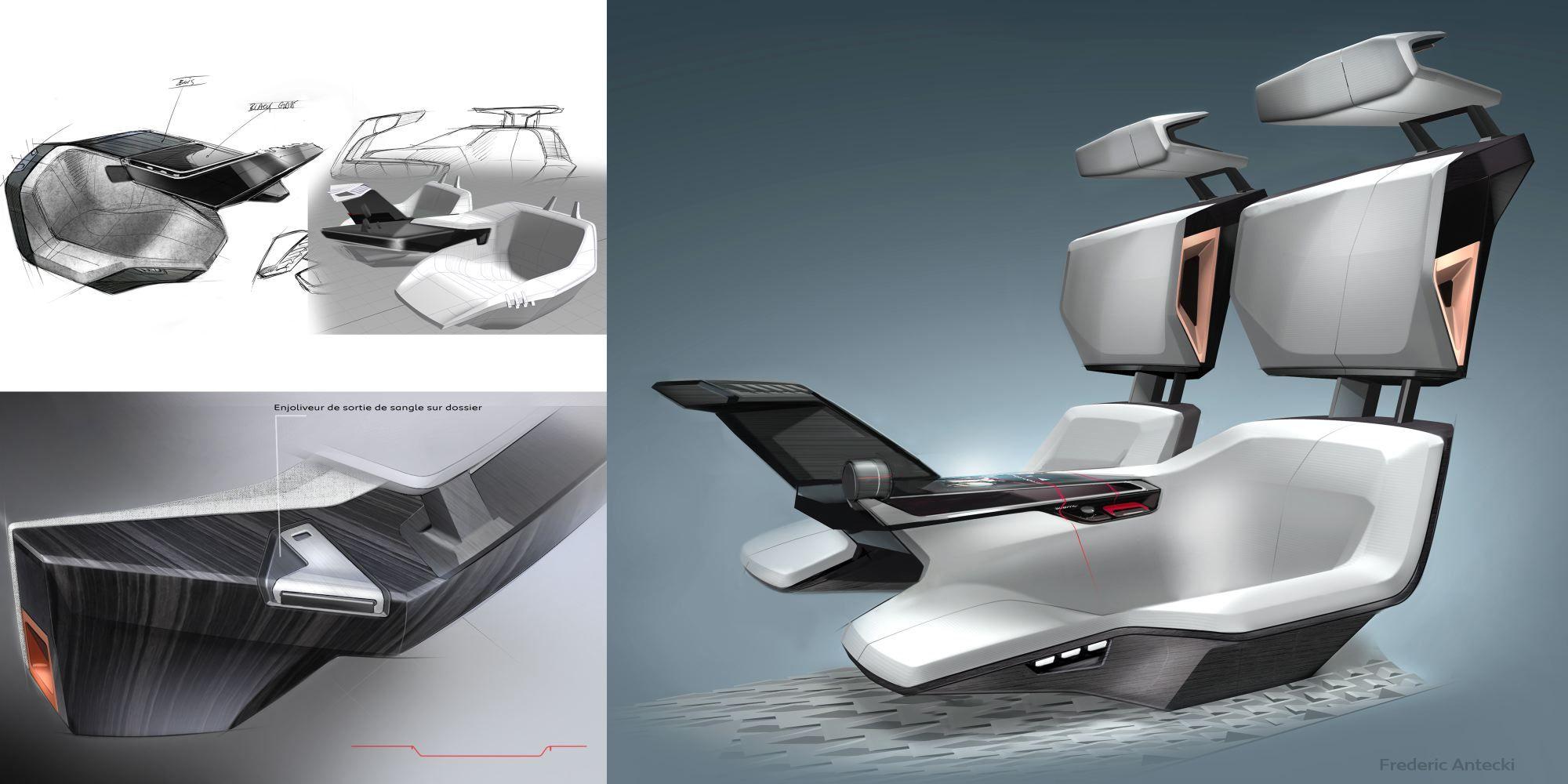 Peugeot fractal design development 2000 1000 for Design degli interni di 1000 m
