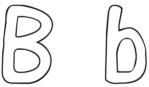 ... Printable Letter B Coloring