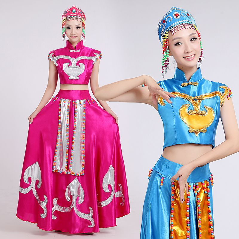 Women Chinese Ethnic Mongolian Dance Clothes Chinese National Dancing Costume Female Chinese Folk Costume with Hat  sc 1 st  Pinterest & Women Chinese Ethnic Mongolian Dance Clothes Chinese National ...