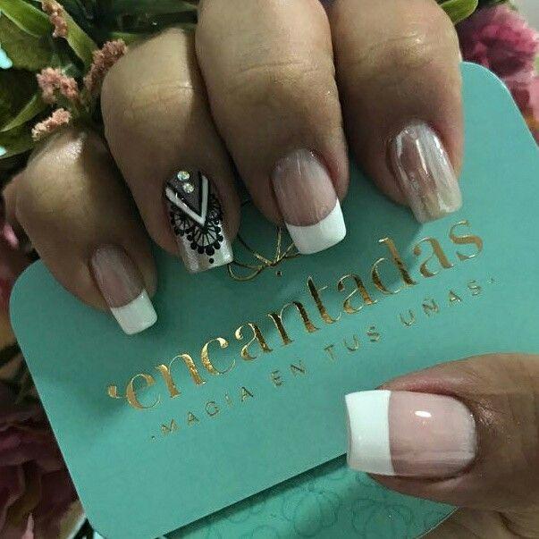 Uñas dorado | Uñas pintadas de encaje | Pinterest | Diseños de uñas ...