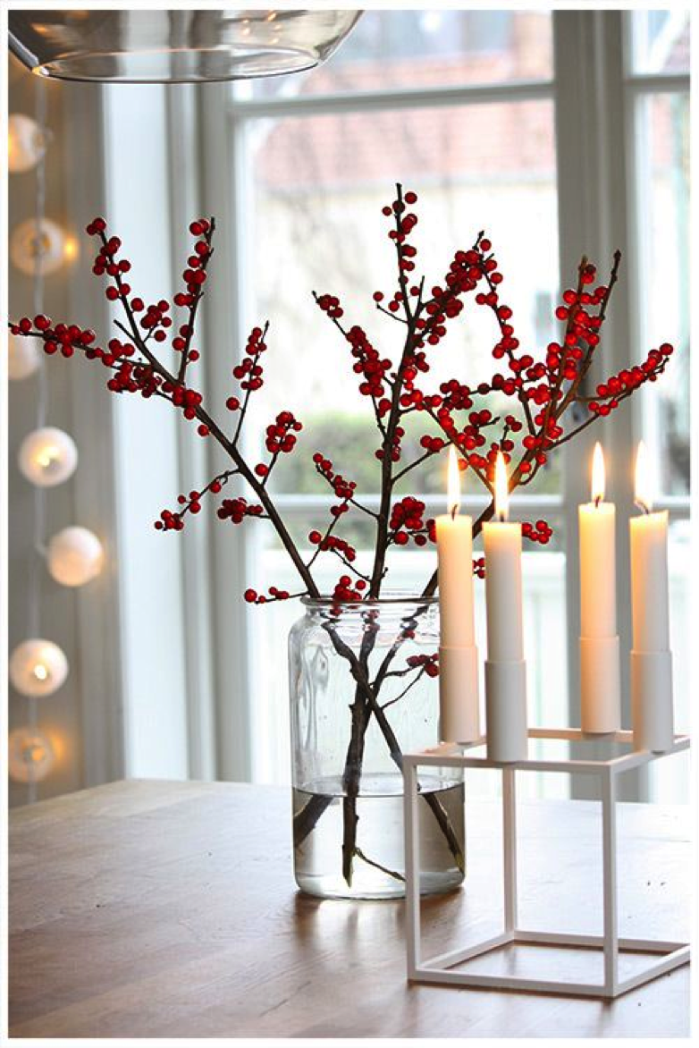 Rote Ilex Für Die Feststtimmung   Tollwasblumenmachen.de #weihnachten #ilex  #fröhlicheweihnachten #