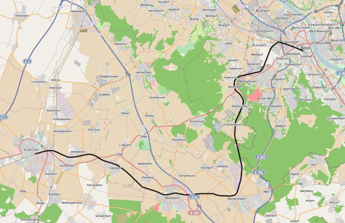 DB 2645 railway map Voreifel Wikipedia At home in BonnBad