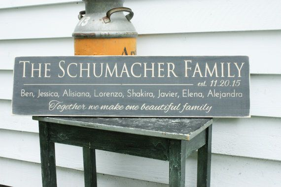 Last name sign with quote or motto first by rusticpinedesigns
