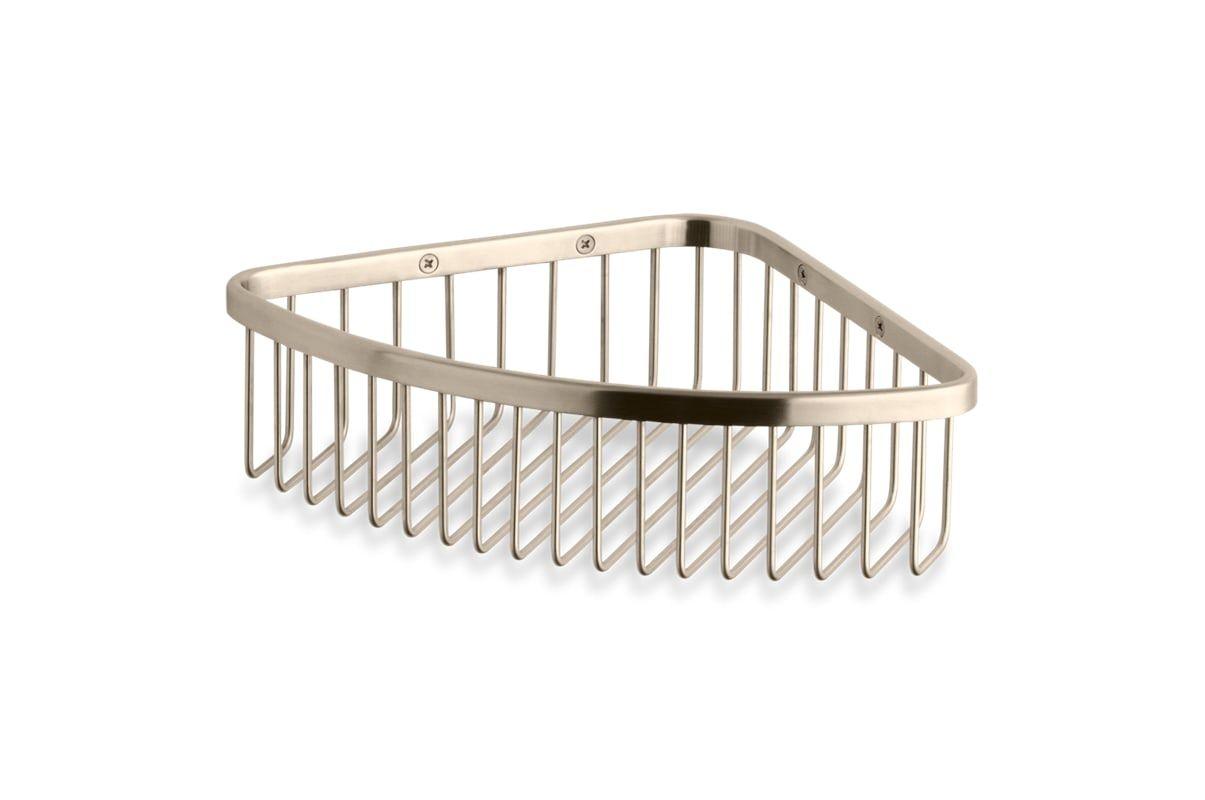 Kohler K-1897 Corner Shower Basket Brushed Bronze Shower Accessories ...