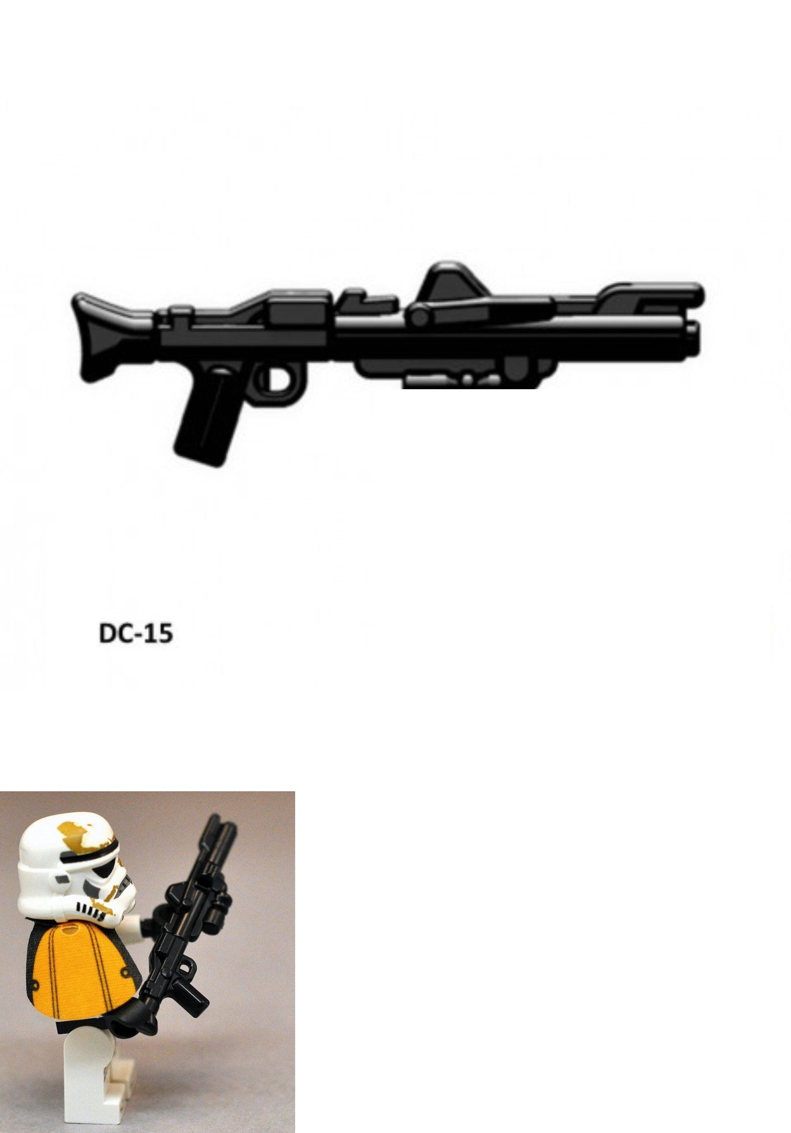 10 Custom LEGO Guns Lot WW2 Machine Rifle Military Toy Weapons Gray//Brown!