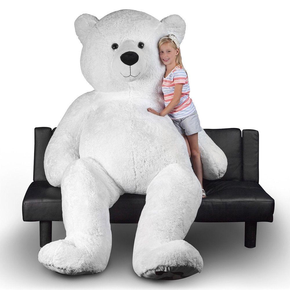 polar bear 94 inch giant stuffed animal house giant teddy bear teddy bears for sale giant. Black Bedroom Furniture Sets. Home Design Ideas