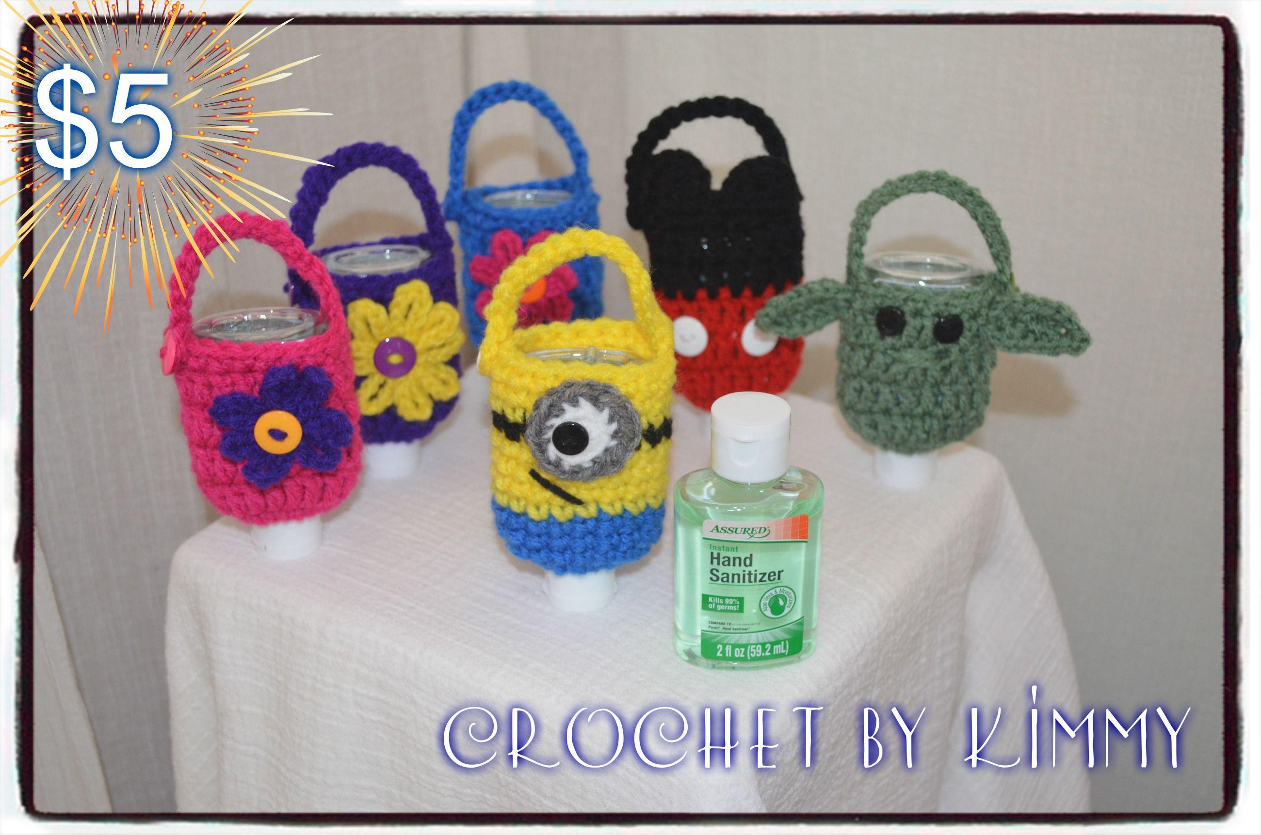 Hand Sanitizer Cozy Hand Sanitizer Crochet Hands