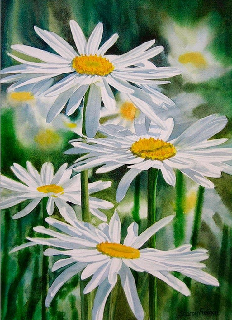 cuadros-de-flores-blancas-pintadas-con-acuarelas