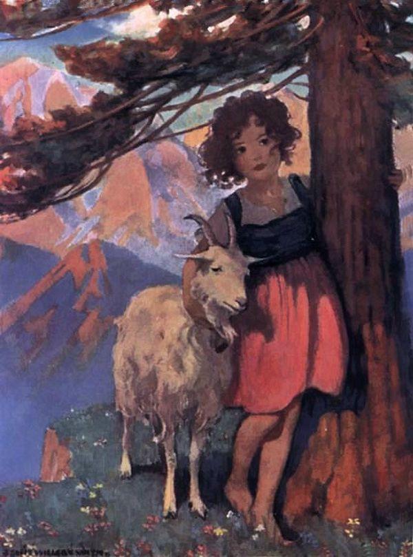 Heidi By Johanna Spyri 1922 Vintage Illustration Art Illustration