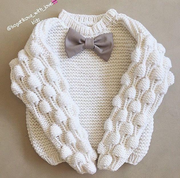 Детский вязаный свитер для девочки схема фото 390