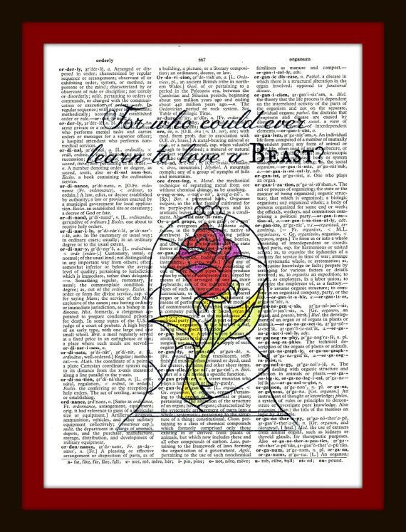 Buy Any 2 Prints Get 1 Free For Who Could Ever Learn To Love A Beast