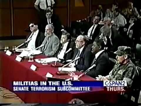 Senate Terrorism Subcommittee American Militia 1995 8 10