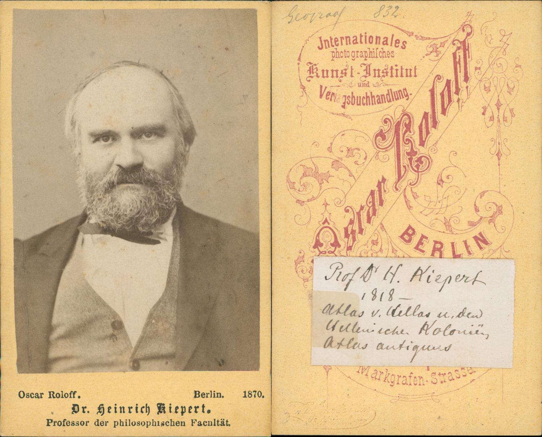 Dr Heinrich Kiepert Gographe Allemand CDV Vintage Albumen Carte De Visite