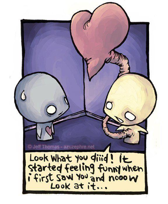 guarda cos'hai fatto!! ha iniziato a provare una strana sensazione quando ti ho visto la prima volta te e ora.. guardalo..