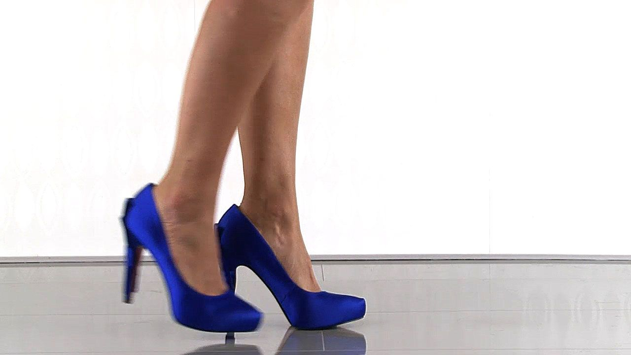 3 Inch Blue Heels