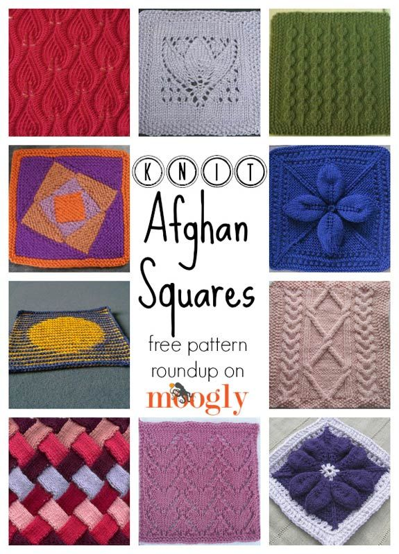 Nifty Knit Afghan Squares: 10 Free Patterns (moogly) | Decken ...