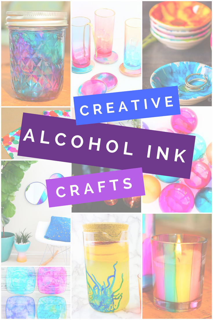 CREATIVE WAYS TO USE ALCOHOL INKS Round-Ups Mad in Crafts