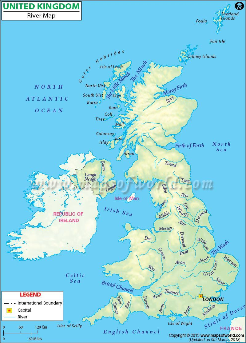 Uk In Map Of World.Find The List Of Major Rivers In Unitedkingdom Maps Of World In