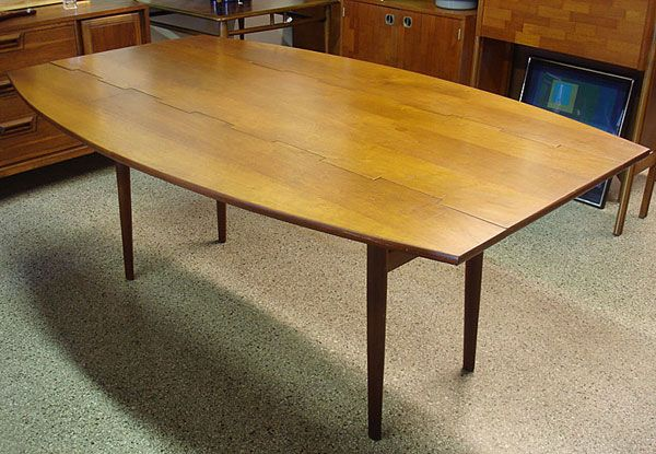 drexel parallel vintage mid century modern dining table | dining