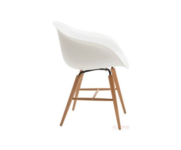 Kare Design 76420 Krzeslo Forum Biale Nogi Drewniane Krzesla Eames Chair Design Chair