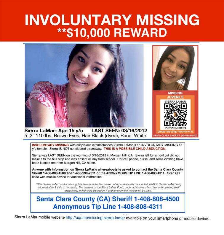 BART Cars Get Sierra LaMar Posters NBC Bay Area missing - make a missing poster