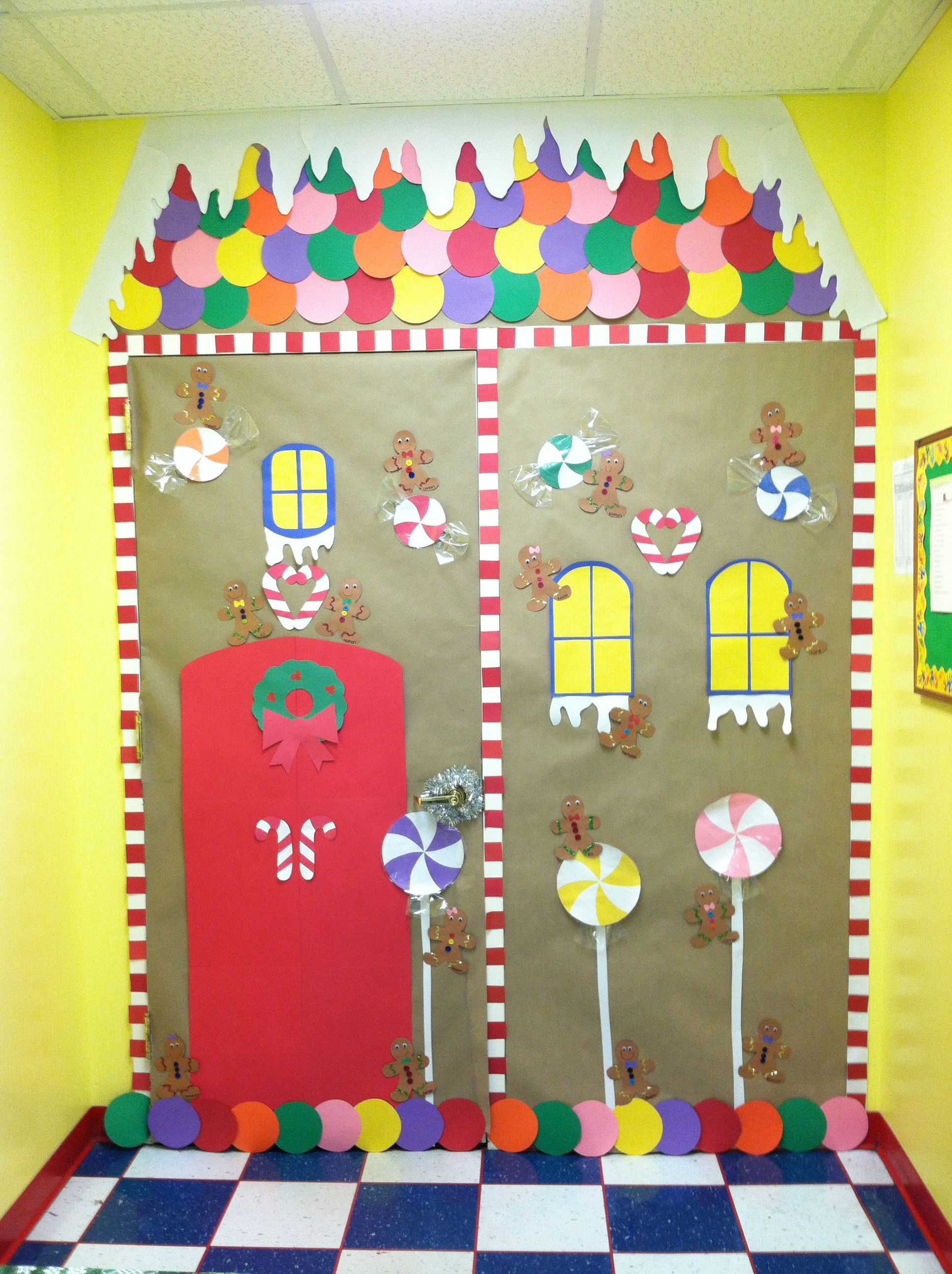 Mine and kaitlyn 39 s gingerbread house classroom door for for Gingerbread decorations