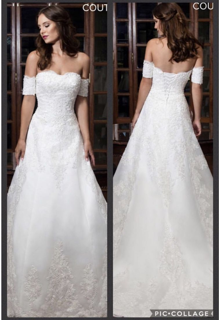 Satin A-line Wedding Gown 👰 Color: Ivory Sizes: 2-30 $1350 Layaway ...