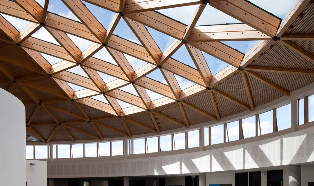 Best Glulam Grid Shell Roof From Inside 400 x 300