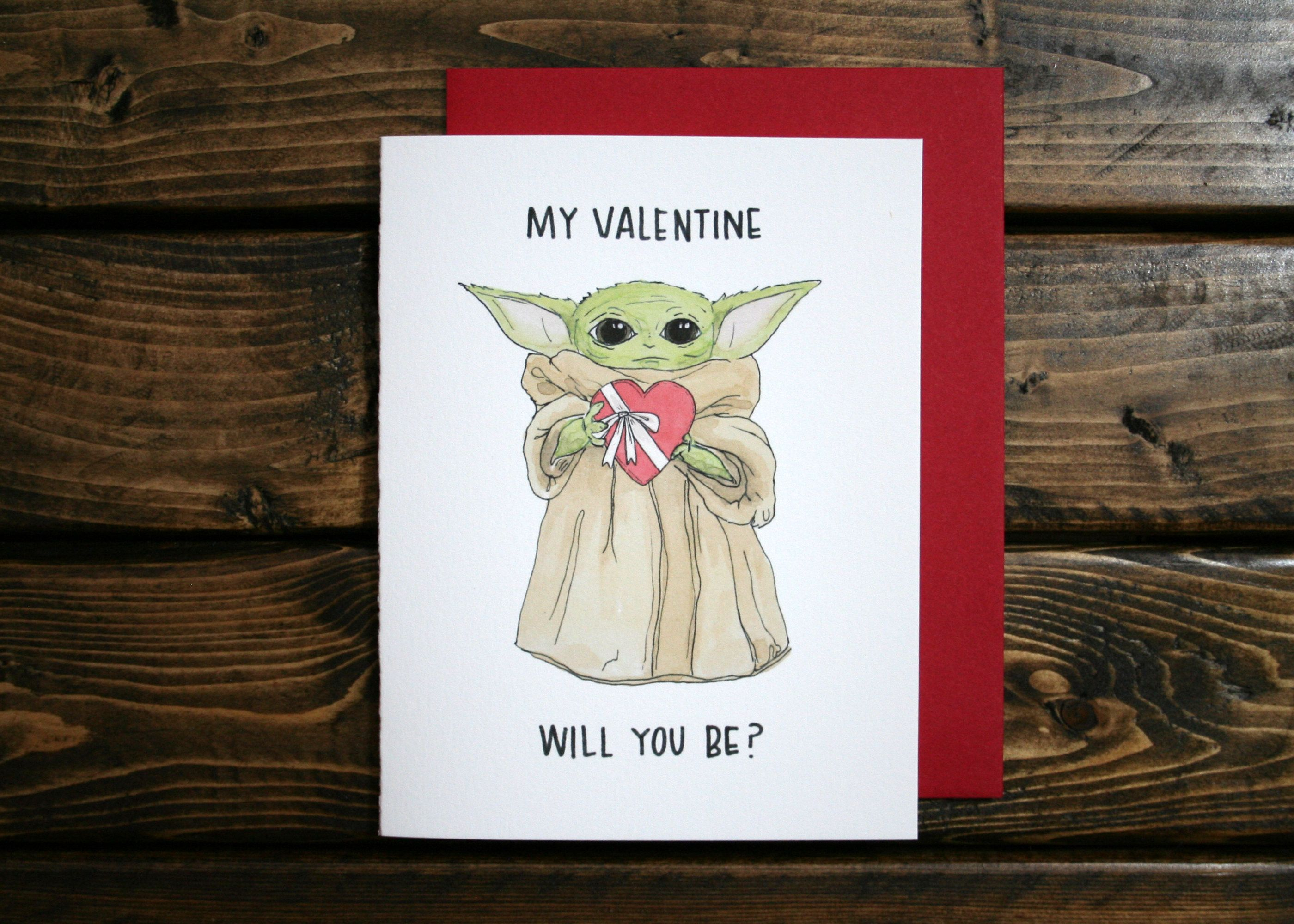 Baby Yoda Valentine S Day Greeting Card Star Wars The Mandalorian By Dundermiffl Valentine S Day Greeting Cards Valentines Day Greetings Valentine Day Cards