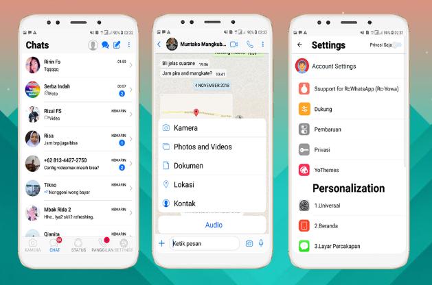 Whatsapp Mod Yang Bisa Download Status Syam Kapuk Android App Design Instagram Ios Themes App