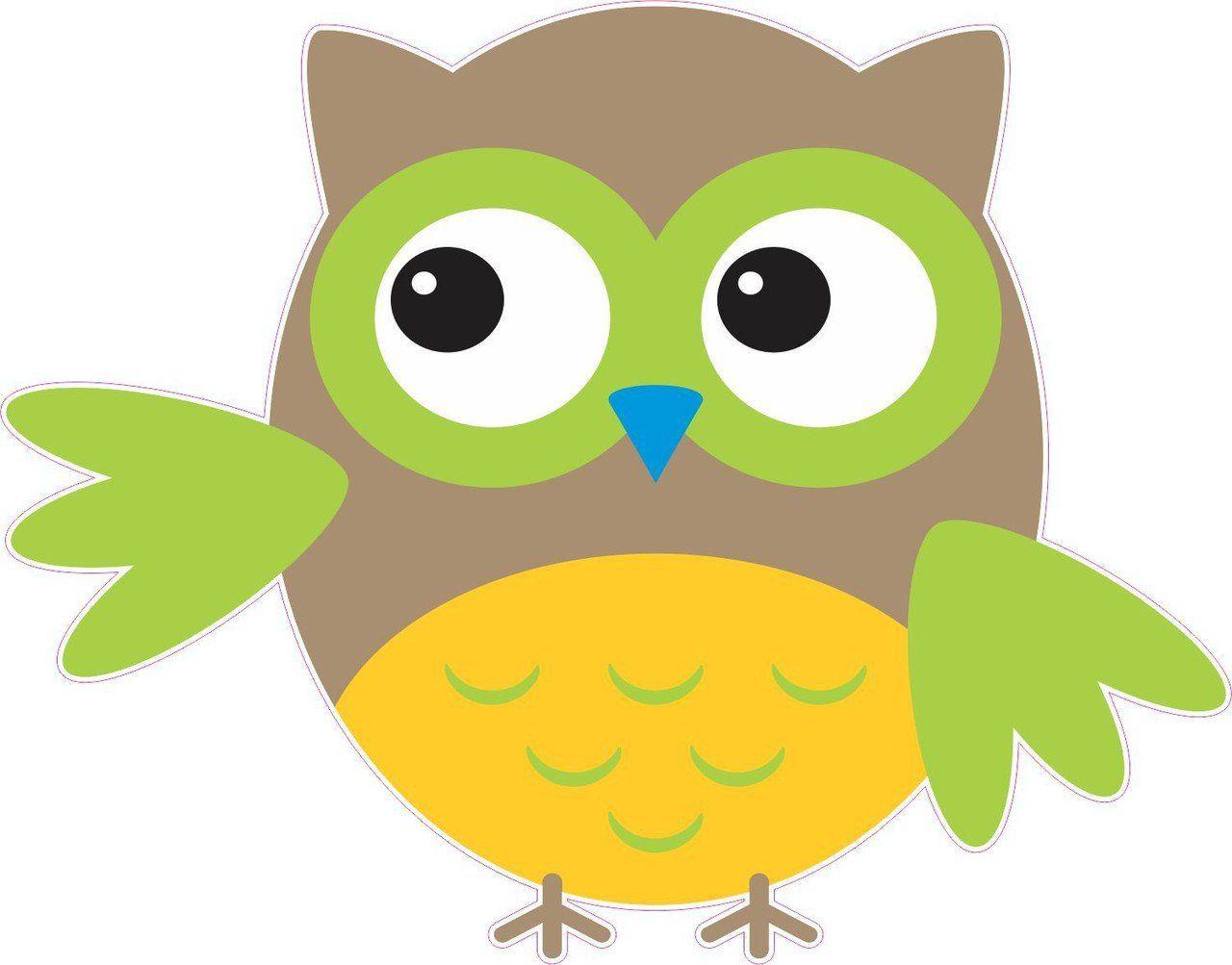 Owl Colorful Owls stickers Window Truck Car Vinyl Bumper Sticker Decal 5