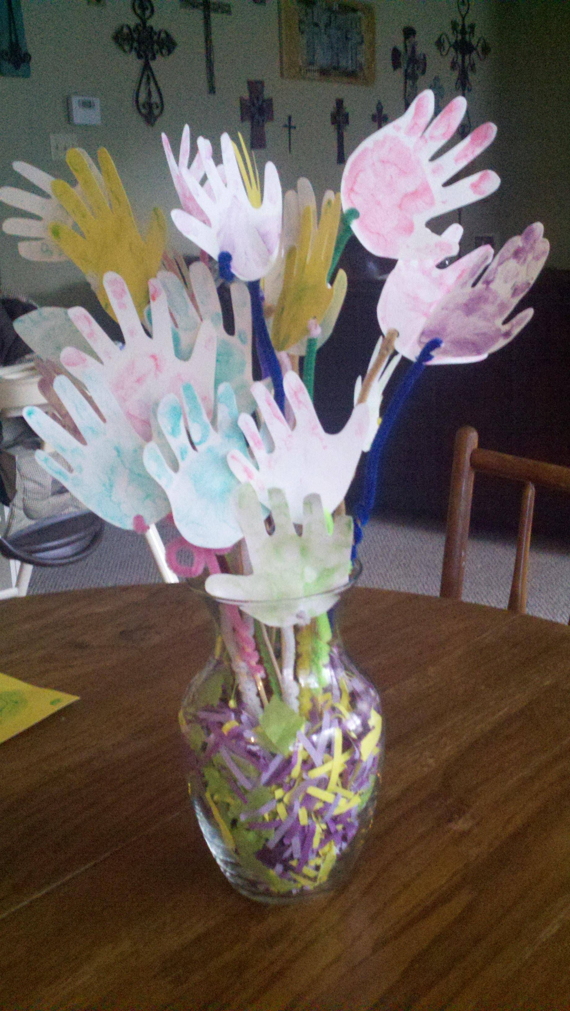 Get well soon bouquet for mimi made from the grandkids handprints get well soon bouquet for mimi made from the grandkids handprints dhlflorist Images