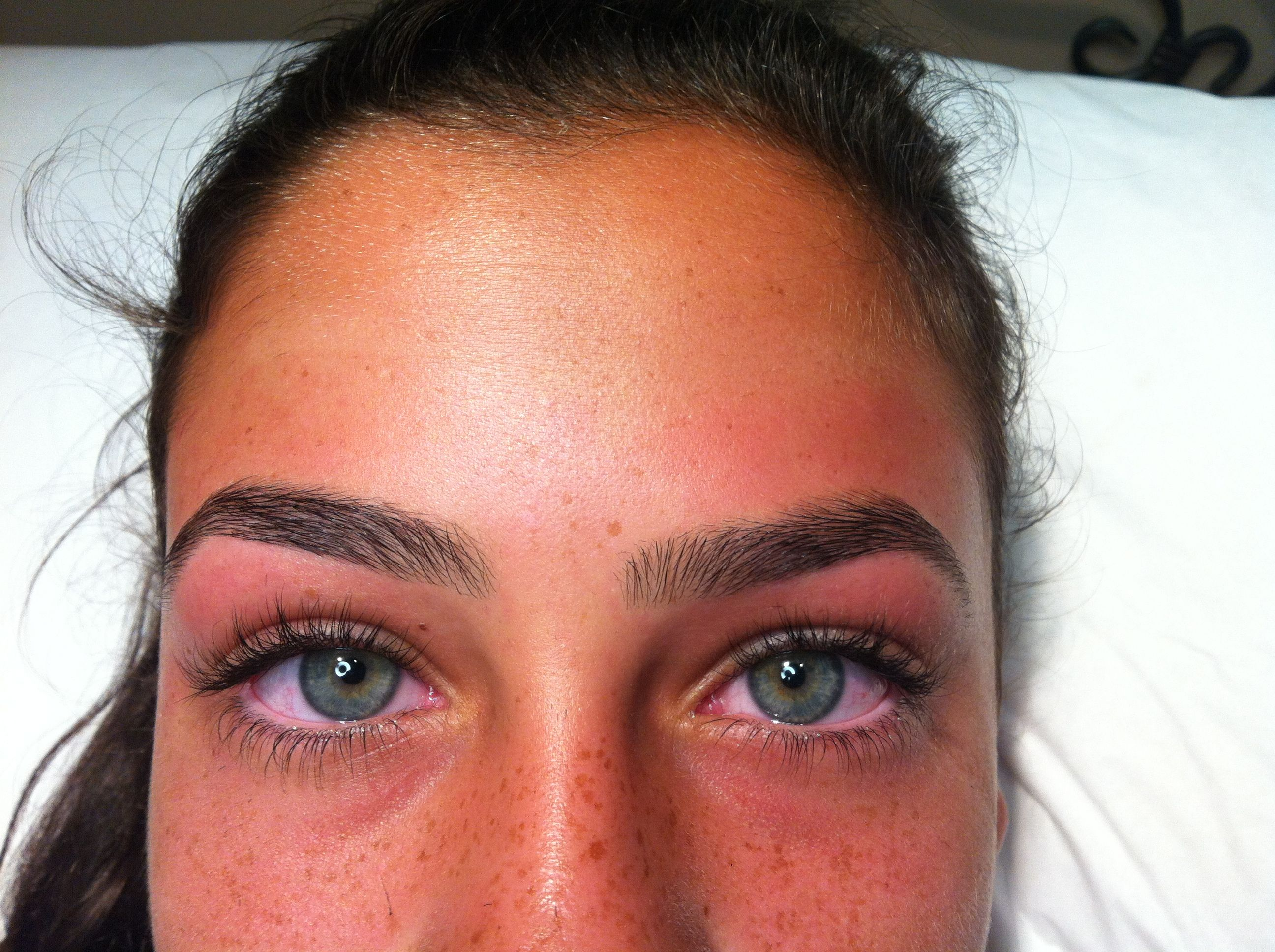 Perfect eyebrows by Michelle at Antonio's in Livingston
