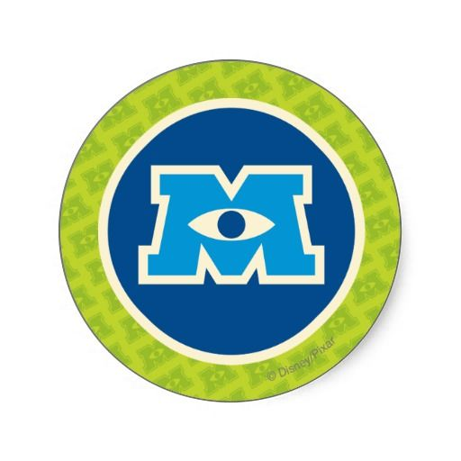 m circle logo classic round sticker logos circles and