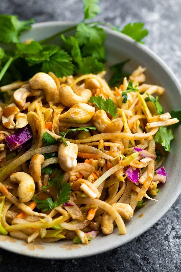 Crunchy Rainbow Thai Salad | Recipe | Side dishes easy ...