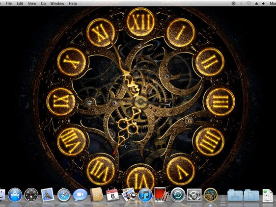Mechanical Clock 3d Mac Osx Horloge Anim 233 E En Fond D