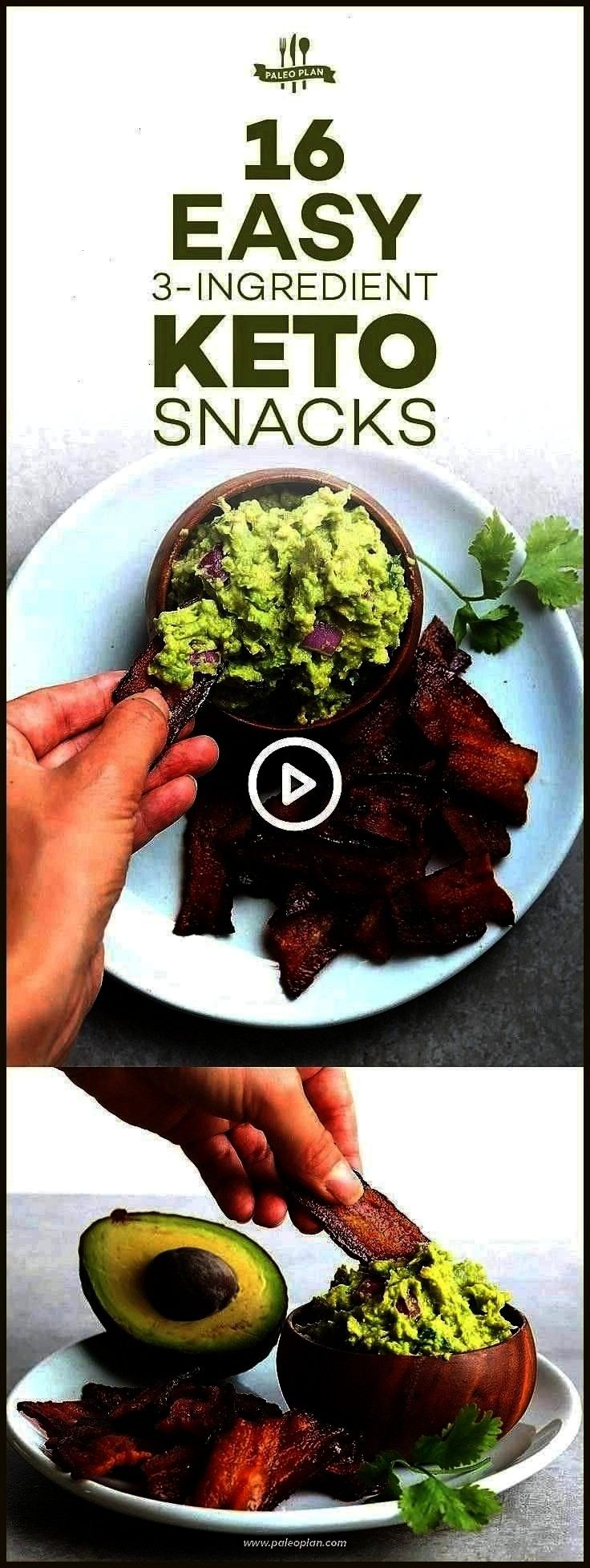 appetizers Rezepte avocado 16 Quick and Easy Keto Snacks with Just 3 Ingredients ketostarbucksdrink