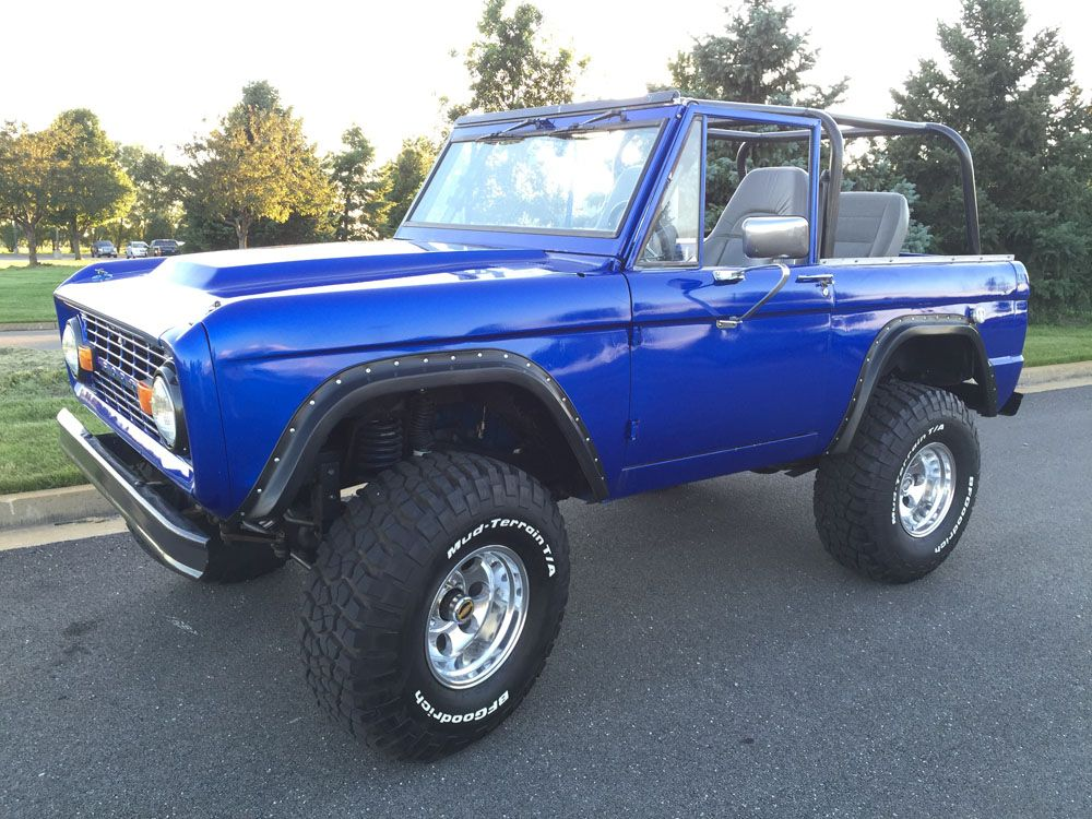 Blue 1970 Ford Bronco Top Off Ford Bronco Bronco Early Bronco