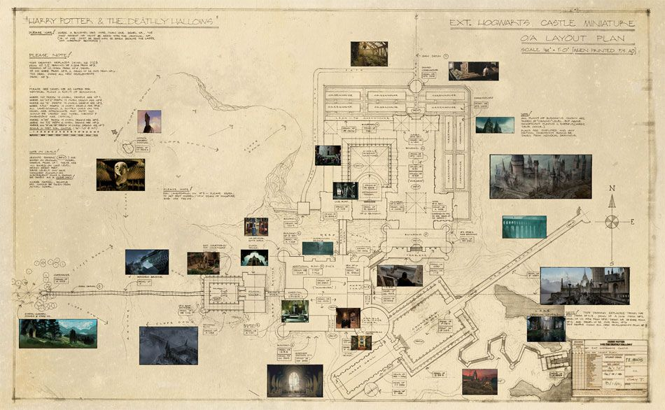 Blueprint Of Hogwarts Castle Poster From The Harry Potter Wizard S Collection Harry Potter Wizard Hogwarts Castle Hogwarts