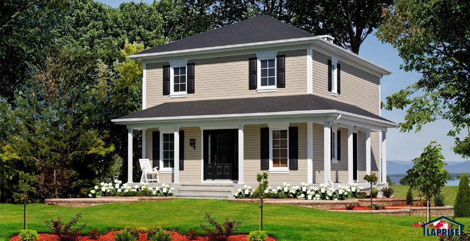 Réalisations maisons Maison Laprise - Maisons pré-usinées plans - plan d une belle maison