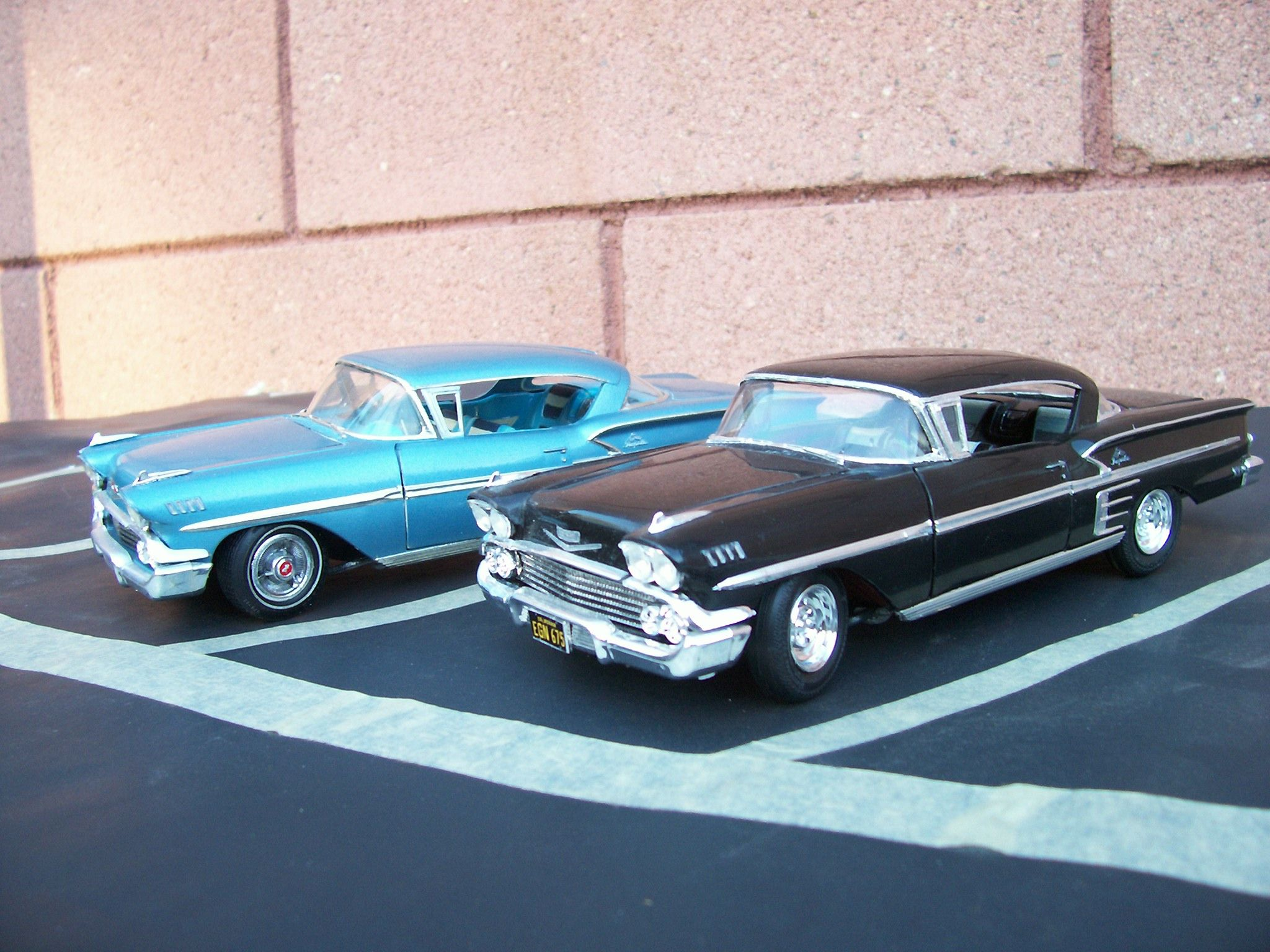 1958 chevy impala 1 25 scale model cars built from amt. Black Bedroom Furniture Sets. Home Design Ideas