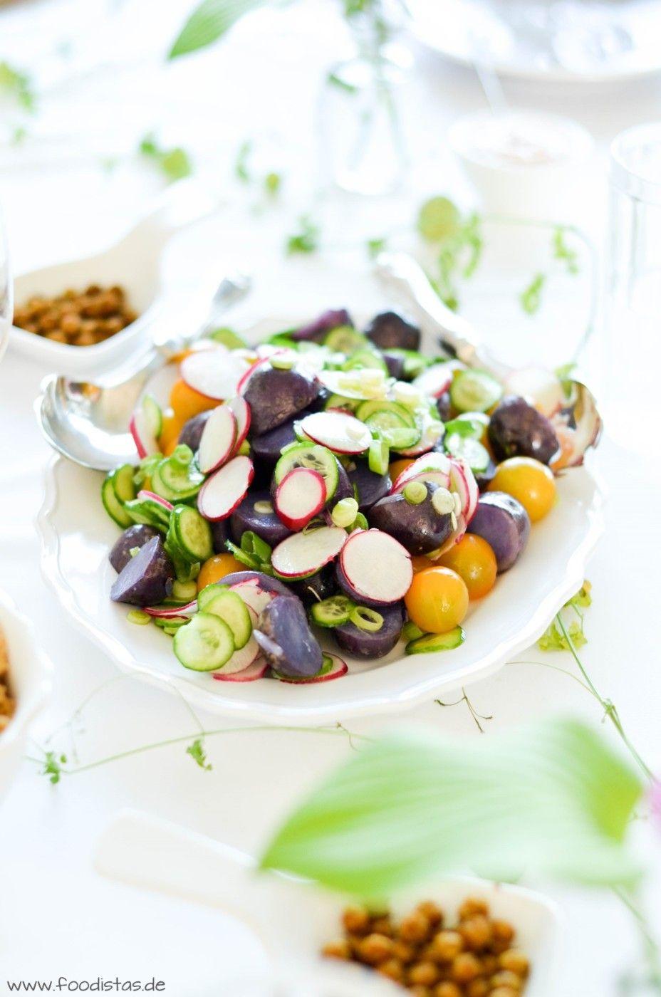lila kartoffelsalat foodistas food pinterest kartoffelsalat kartoffel und salat. Black Bedroom Furniture Sets. Home Design Ideas